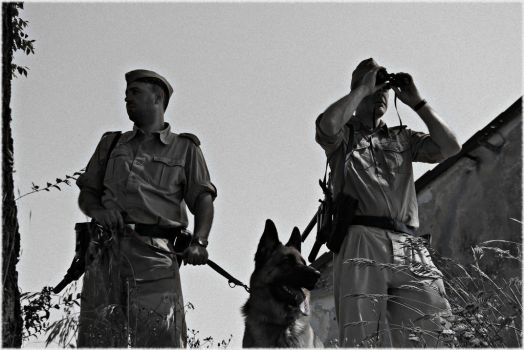 German soldiers with dog by Damyvr