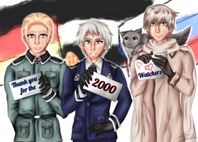 Thanks for 2000 Watchers by TaNa-Jo