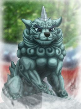 Japanese Guardian Dog by SheltieWolf