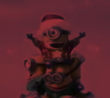 Christmas Minion red by Richard67915