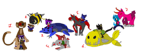 Sonic FC adoptables 87-closed- by DarkBlueGlass
