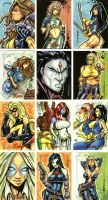 X-Men Archives Cards 3 by Axebone