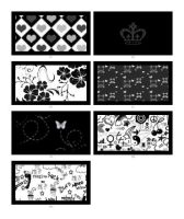 Black and White Pattern by krystalamber2009