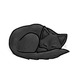 Sleeping Kitty by D4wn-Flow3r