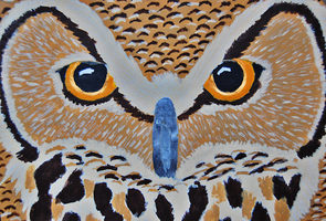 2012: Great Horned Owl in Acrylics by Magenta-Fantasies