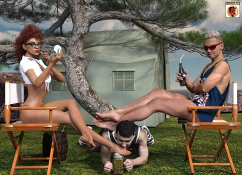 Camping Slave by kirgen71