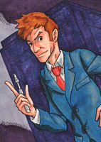 Dr. Who Sketch Card by ibroussardart