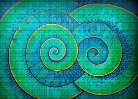 double spiral on the wall by santosam81