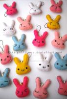 Bunny plushies by TokiCrafts