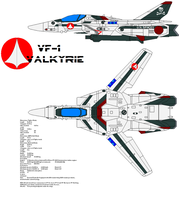 VF-1 Valkyrie by bagera3005