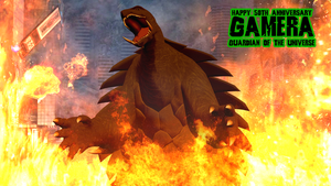 Gamera's 50th Anniversary by KingAsylus91