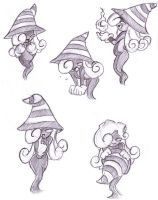Vivian Sketches - Paper Mario by kamon-san