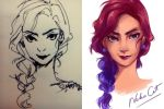Sketch and color by coralinejohns