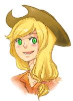 human Applejack by Wasil