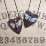 Death Head Moth Pendants by mar-rie