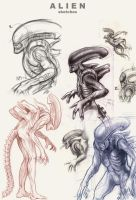 Alien sketchdump by Deimos-Remus