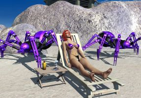 Kim Paler at the Beach by hotrod5