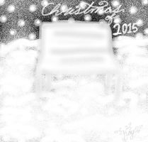 Christmas of 2015-Bench in Snow by TheSisters2