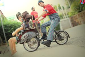 Becak And The Owner by indrawhn