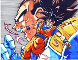 vegeta and goku CL by trunks24