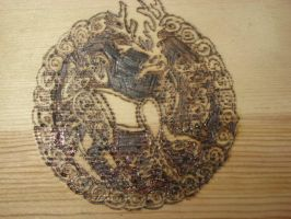 Celtic Stag Box Closeup by WillowForrestall