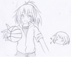 Playing Basketball by KuroNeko987