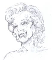 Zombie Marilyn Monroe by ChrisOzFulton