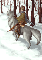 Wolf And Boy by tinhan