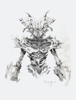 Mantis humanoid character concept 02 by Jerner