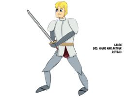 Daily Sketch Challenge: young king arthur by subatomiclaura