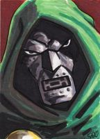 Dr. Doom sketch card by tdastick
