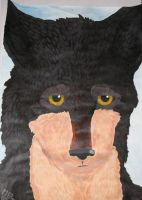 Wolf Face Painting by selunca