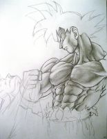 Goku vs Superman unfinished by TicoDrawing