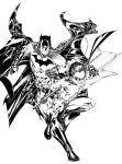 Batman and Robin inks by SpiderGuile