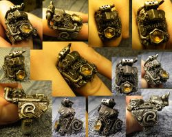 Torchlight Steampunk Ring by SimonSaysBaka