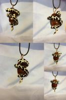 Cow snake necklace by SonsationalCreations