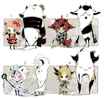 [CLOSED] ADOPT AUCTION 66 - Shadowmonsters by Piffi-adoptables