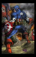 Captain America Colored by hanzozuken
