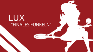 Lux Finales Funkeln Silhouette - Red - White by urban287