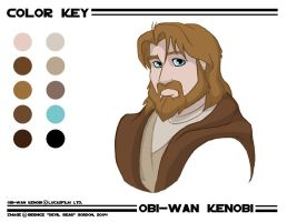 Obi-wan Kenobi- Color Key by tarkheki