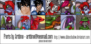 Portrait Collection - Updated by albinoshadow