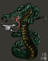 SNAKE DEMON by happymonkeyshoes