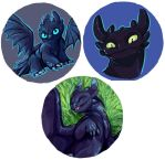 Toothless buttons by saeto15