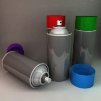 Spray Cans 3D Model by wilde-media