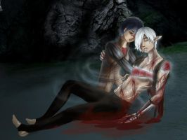 Hawke healing Fenris 2 by FIavie