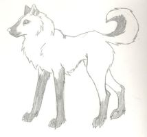 me as a wolfe by Preciousness