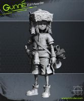 Gunne - Kid Hoarder High Poly Sculpt by Ichidann