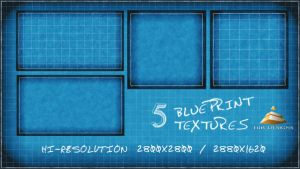 5 Blueprint textures by HJR-Designs