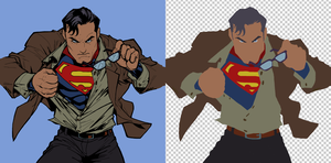 Flatting Tutorial_Superman by vest