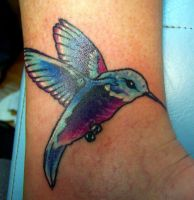 humming bird cover-up by inkart13